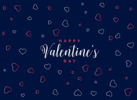 fondo azul con patrón de corazones para el día de san valentín