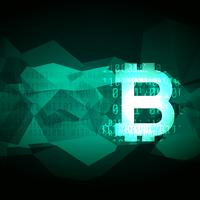 abstract cryptocurrency bitcoin symboolontwerp
