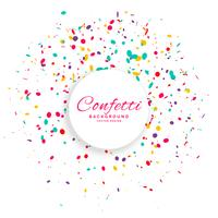birthday confetti celebration vector background