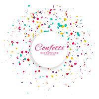 fundo de vetor de celebração de confetes de aniversário