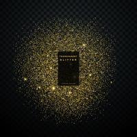 esplosione di scintillio dell'oro lucido scintilla sfondo coriandoli