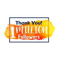 1 million d'abonnés succès merci pour le réseau social