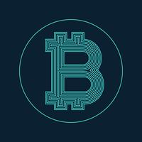digital bitcoin currency symbol vector design