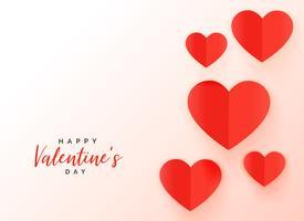 roter Origami-Herzhintergrund für Valentinstag