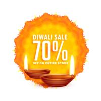 Fondo de venta de diwali con diya.