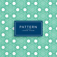 green abstract flower style pattern background