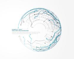 Digitaltechnik-Hintergrund mit High-Tech-Netzwerklinien