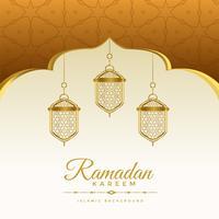 elegante fondo de vacaciones ramadan kareem