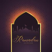 porte de la mosquée avec des lumières rougeoyantes et motif islamique