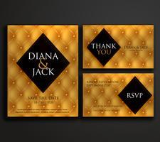 diseño de tarjeta de invitación de boda de lujo premium