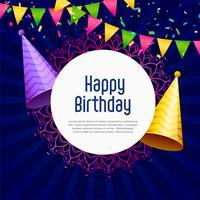 happy birthday party celebration vector background