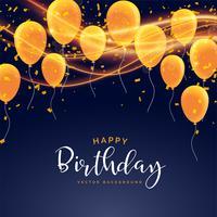 design de cartão de comemoração de feliz aniversário