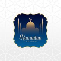 islamisk ramadan kareem bakgrundsdesign
