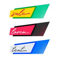 trendig mode försäljning banners design
