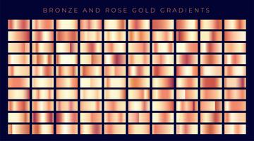 vaste collection de gradients d'or rose ou de cuivre