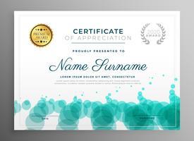 ontwerp van de creatieve certificaatsjabloon met stippen patroon