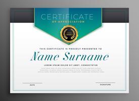 elegant certifikatmall med lyxig modern design