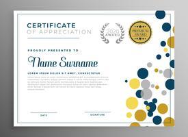 diseño de plantilla de certificado de círculos creativos