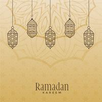 fundo de ramadan kareem estilo vintage