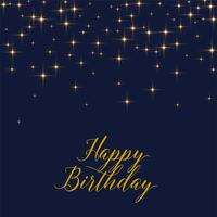 happy birthday background with shiny golden stars