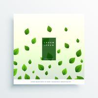fondo blanco con hojas verdes