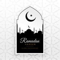 Ramadan Kareem kreative Vektor Begrüßung