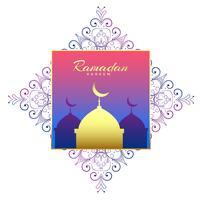 ramadan Kareem bella decorazione di sfondo