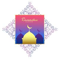 ramadan kareem vacker bakgrundsdekoration