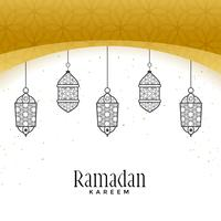 Hermosas lámparas colgantes para ramadan kareem