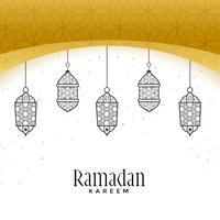 belas lâmpadas penduradas para ramadan kareem