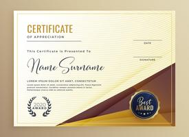 luxury premium certificate design template