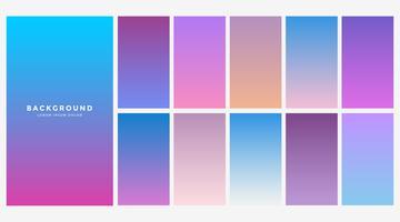 conjunto de combinación de color azul degradado