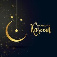 lune et étoile pour la saison islamique du ramadan kareem