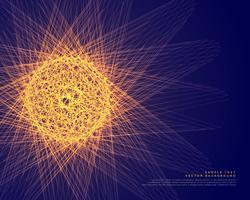 sphère rougeoyante abstraite faite avec fond de lignes