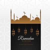 stilvoller Ramadan Kareem schöner Grußhintergrund