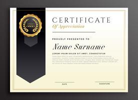 elegant diplom utmärkelse certifikat mall design