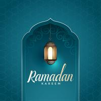 ramadan kareem awesome design with hanging lamp