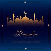 glödande moskédesign för islamisk ramadan kareemsäsong
