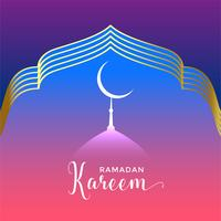 beautiful ramadan kareem seasonal background