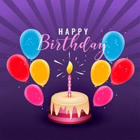 feliz aniversário festa design de cartaz de celebração com balões e