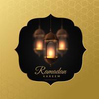lanternas de suspensão elegante fundo de ramadan kareem