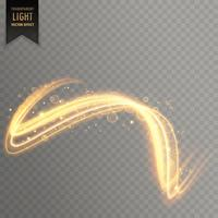 abstrait effet de lumière dorée