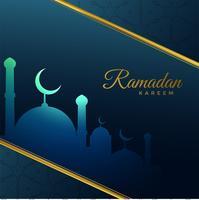 Ramadán kareem saludo de fiesta en estilo creativo