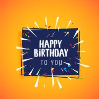 happy birthday celebration greeting card design