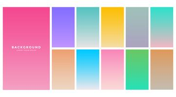 colorful soft gradients set for mobile app