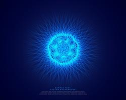 blue abstract science background with glowing atomic energy
