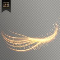raia de luz com efeito de brilho