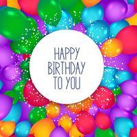 fond de ballons colorés pour joyeux anniversaire