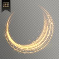 genomskinlig gyllene ljus effekt vektor bakgrund