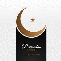 elegante festival de Ramadan Kareem saludo